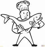 Coloring Nurse Pages Trout Fish Cook Chef Holding Drawing Needle Clipart Professions Brook Preschool Printable Clip Cooking Getdrawings Getcolorings Factory sketch template