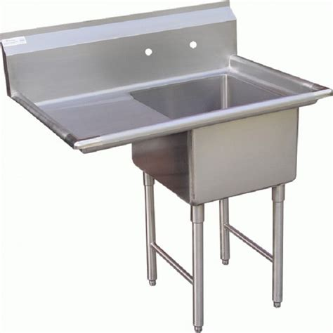 which side is water on a sink gsw se18181l one compartment stainless prep sink w left