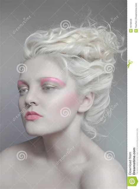 pale beauty portrait  blond woman stock image image