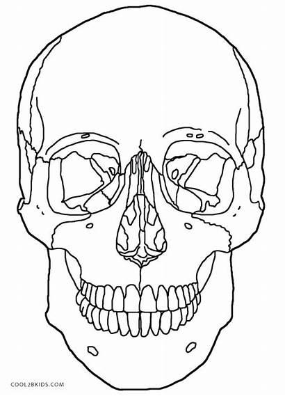 Skull Coloring Pages Flaming Skulls Getcolorings Printable