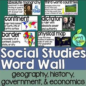 Social Studies Word Wall by Brainy Apples | Teachers Pay ...