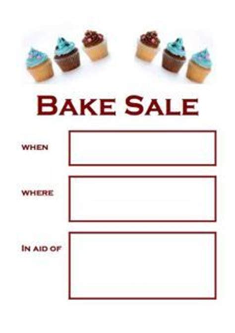 sale poster poster templates  bake sale  pinterest