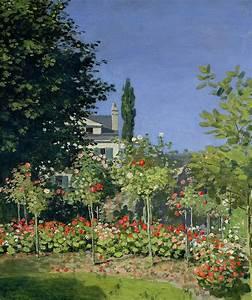 Flowering Garden At Sainte-adresse Painting by Claude Monet