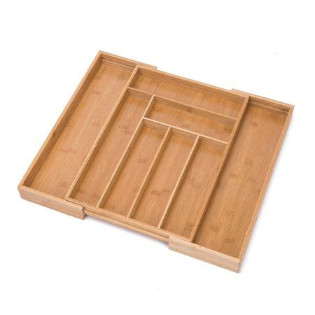Kitchen Drawer Organizer Adjustable by Thy Collectibles Bamboo Expandable Kitchen Cutlery