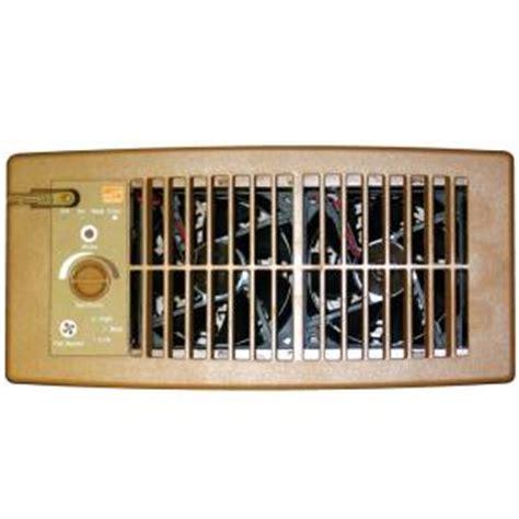 floor registers with fans home depot suncourt flush fit register booster fan in brown hc500 b