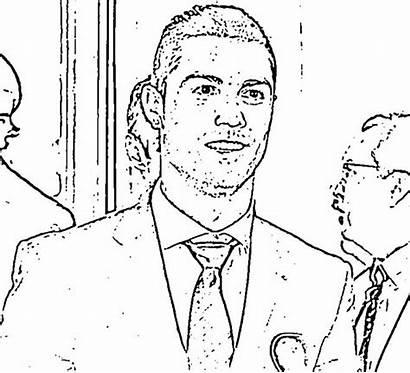 Ronaldo Cristiano Celebrities Coloring Printable