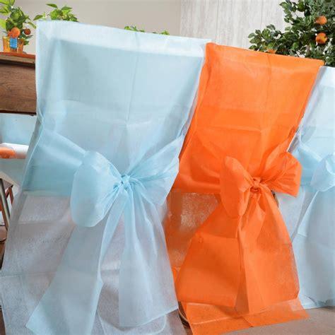 housse de chaise mariage pas chere achat vente housse de chaise orange déco de mariage pas