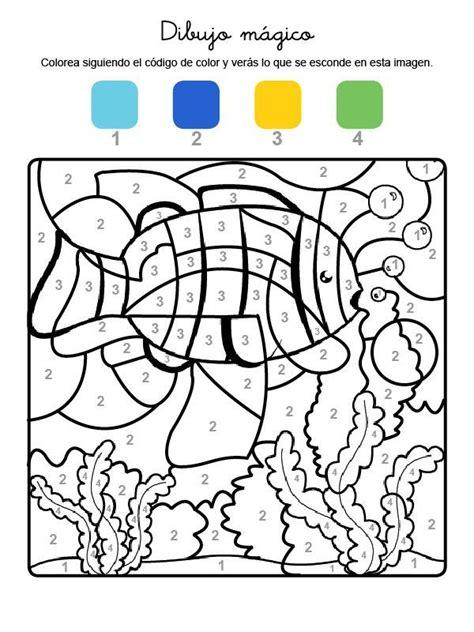 Colorea seguindo as instruccións Dibujos para colorear