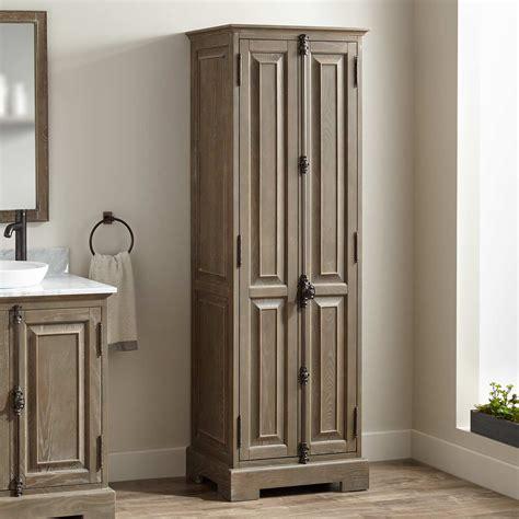 Linen Armoire Storage by Chelles Bathroom Linen Storage Cabinet Gray Wash Bathroom