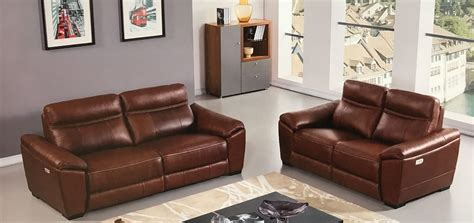 brown leather recliner sofa set forma full italian brown leather power recliner loveseat