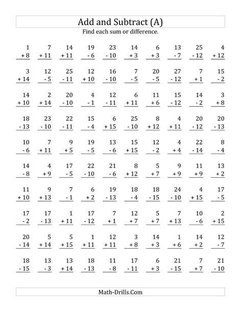 1st grade math worksheet addition and subtraction grade worksheets part 1 worksheet mogenk paper works