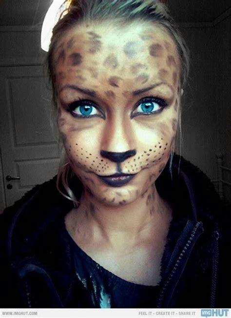 leopard kostüm selber machen makeup leopard leopard print