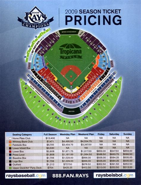 tampa bay rays season ticket pricing