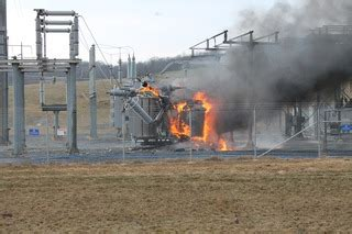 dominion power substation fire  churchville va