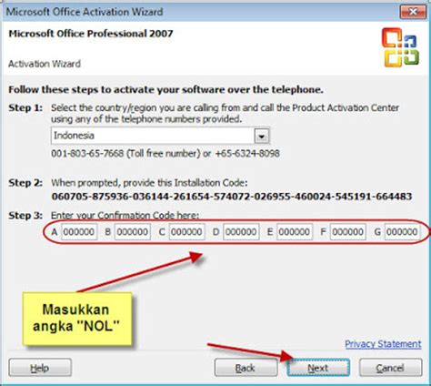 microsoft office 2007 product key activation