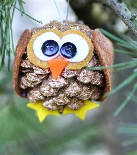pine cone owl ornaments animal crafts owl and pine cones on pinterest