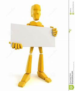 Man Holding The Blank Poster Stock Images - Image: 4620144