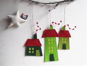 felt christmas house ornament by intres contemporary christmas ornaments by etsy
