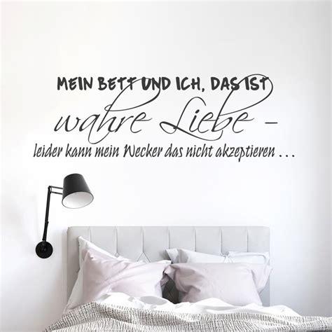 Wandtattoo Spruch  Mein Bett Und Ich, Das Ist Wahre Liebe