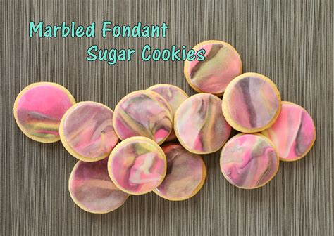 marbled fondant sugar cookies  kailo chic life