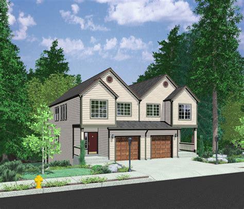 open floor plan duplex lb architectural designs house plans
