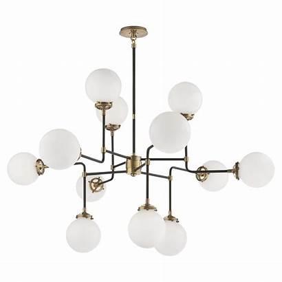 Chandelier Ceiling Bistro Modern Lights Brass Lamp