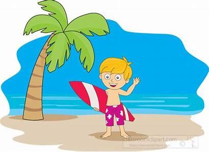 Summer Clipart Beach Surfer Board Clip Children