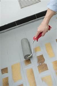 repeindre le carrelage au sol d39une cuisine tuto en With peindre carrelage sol cuisine