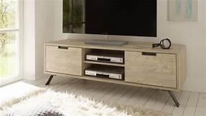 Meuble Tv Bois Design : meuble tv design nekho bois avec pied m tal mobilier moss ~ Preciouscoupons.com Idées de Décoration