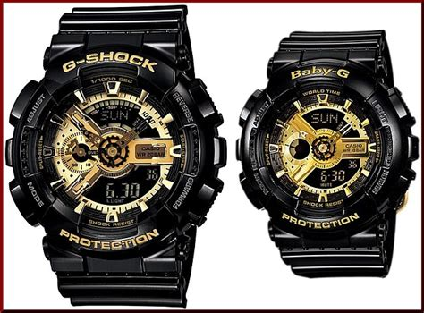 G Shock Ga 110 Gold Series bright an analog digital casio g shock baby gblack
