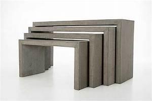 Möbel Aus Beton : lkonsolex 4 konsolen aus beton minimal design m bel ~ Michelbontemps.com Haus und Dekorationen