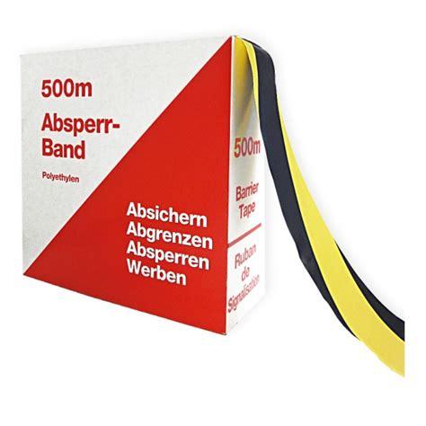 absperrband gelb schwarz absperrband flatterband gelb schwarz schraffiert rolle 80 mm x 500 m aufkleber shop