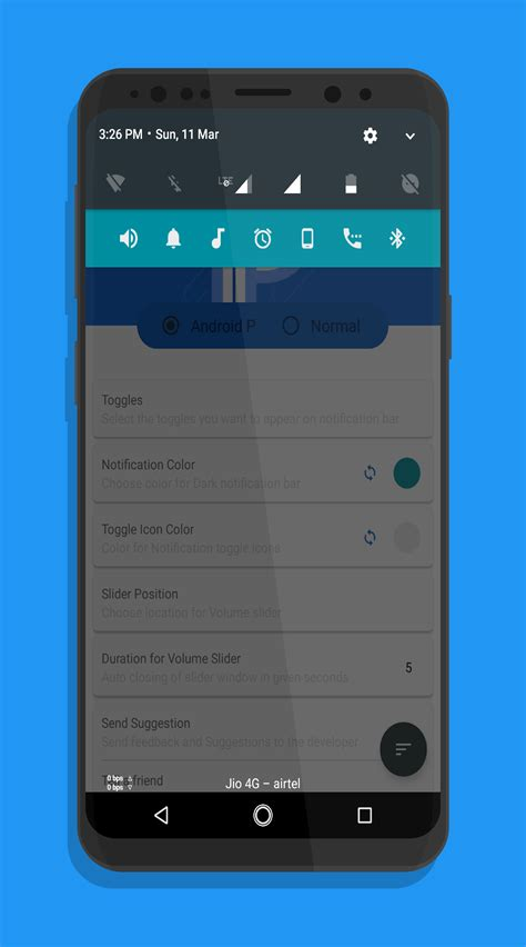 Android P Volume Slider