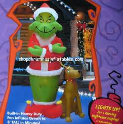 grinch with max christmas airblown inflatables