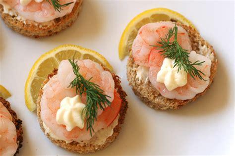 shrimp canape recipe shrimp canapes a la suede