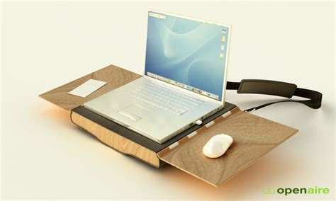 laptop desk portable workstation 34 creative furniture that stand out from the rest hongkiat