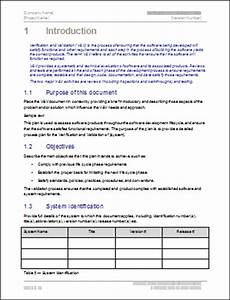 verification and validation plan template software With software validation plan template