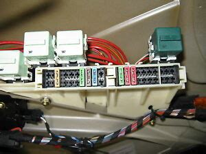 bmw  series  fuse box trunk