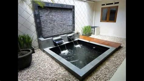 ide desain air mancur kolam taman minimalis rumah