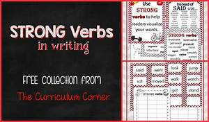 Types Of Organization Charts Strong Verbs In Writing The Curriculum Corner 4 5 6