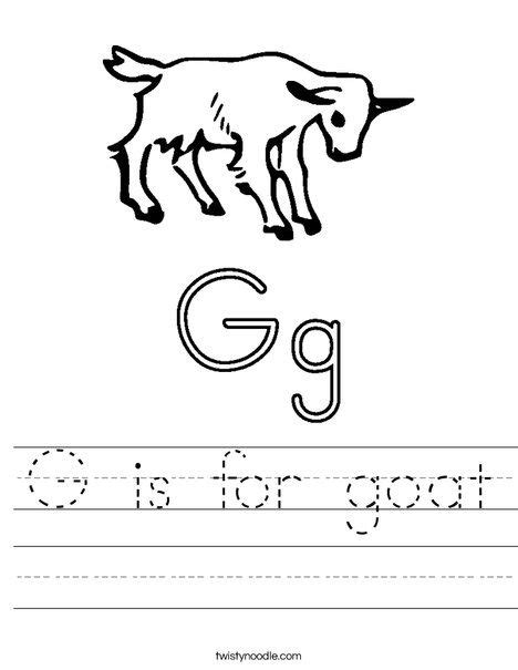 goat worksheet twisty noodle  images