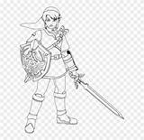 Coloring Zelda Template Sword Colouring Spirit Master Legend sketch template
