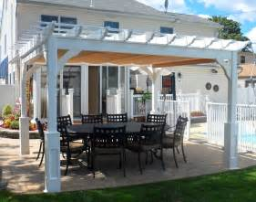 Patio Swings With Canopy by Vinyl Belvedere Free Standing Pergolas Pergolas By