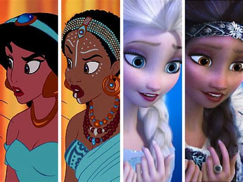 disney princesses reimagined    race