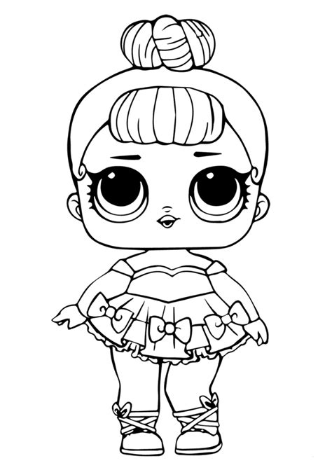 lol doll coloring page  baby glitter lol dolls