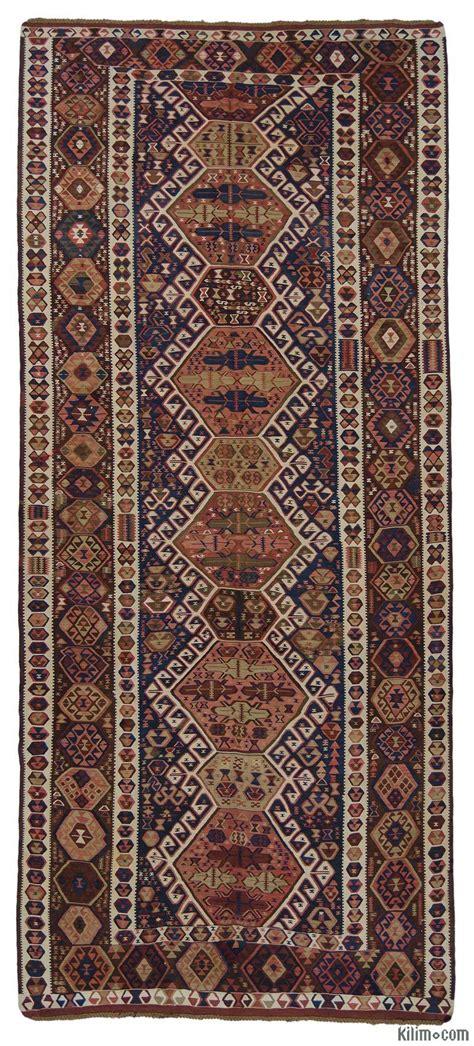 Antique Rugs - k0015966 blue antique kagizman kilim rug