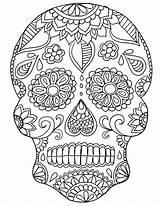 Coloring Dead Pdf Skull Sugar Printable Getcolorings Colo sketch template