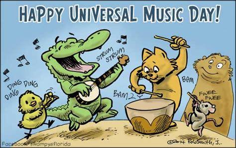 Swampy Says Happy Universal Music Day!