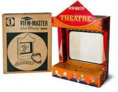 view master walt disney theatre junior projector  cardboard projection screen view master