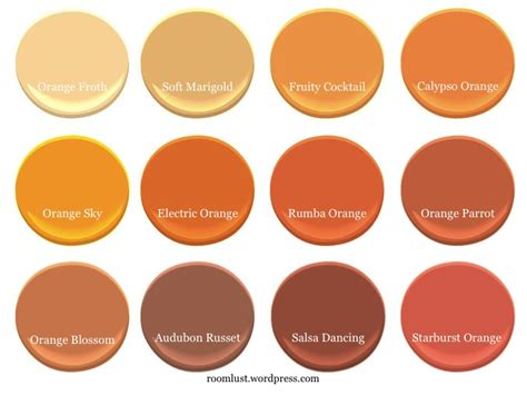 paint colors with orange the best orange paint colors room lust